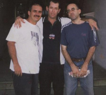 Francis Sánchez, Reynaldo Hernández Soto, Pedro Alberto Assef. Despedida a Soto que marchaba al exilio ese día, 2 junio 1998.
