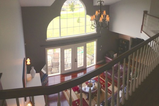 Liging room from upstairs