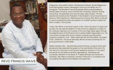 About Rev Francis Waive