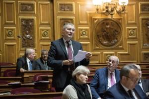 Le sénateur Franck Montaugé lors de son intervention, mercredi 19 novembre 2014