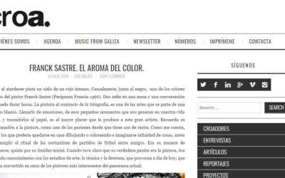 Croamagazine: FRANCK SASTRE. THE SCENT OF COLOR
