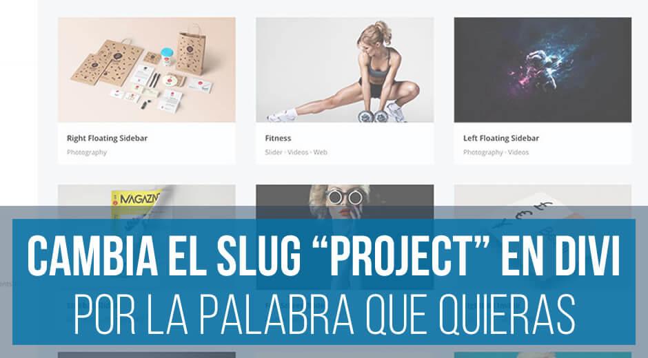 """Cambiar el slug """"project"""" en Divi"""
