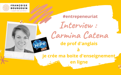 Interview reconversion entrepreneuriat – Carmina Catena