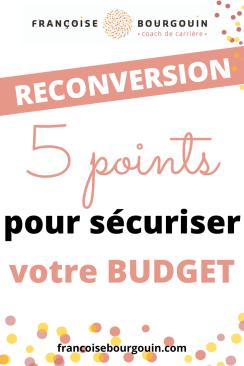 5 points pour construire et sécuriser son budget de reconversion  #budgetreconversion #chomage #argent #reconversion #transitionprofessionnelle