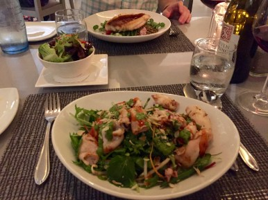 Dinner at the Marine. This calamari salad was so, so good.