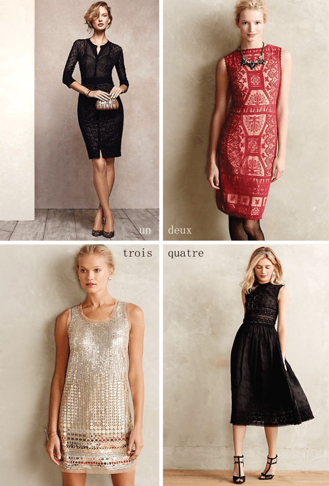 Anthropologie holiday dresses