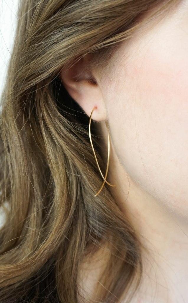Brass Hoop Earrings DIY | Francois et Moi