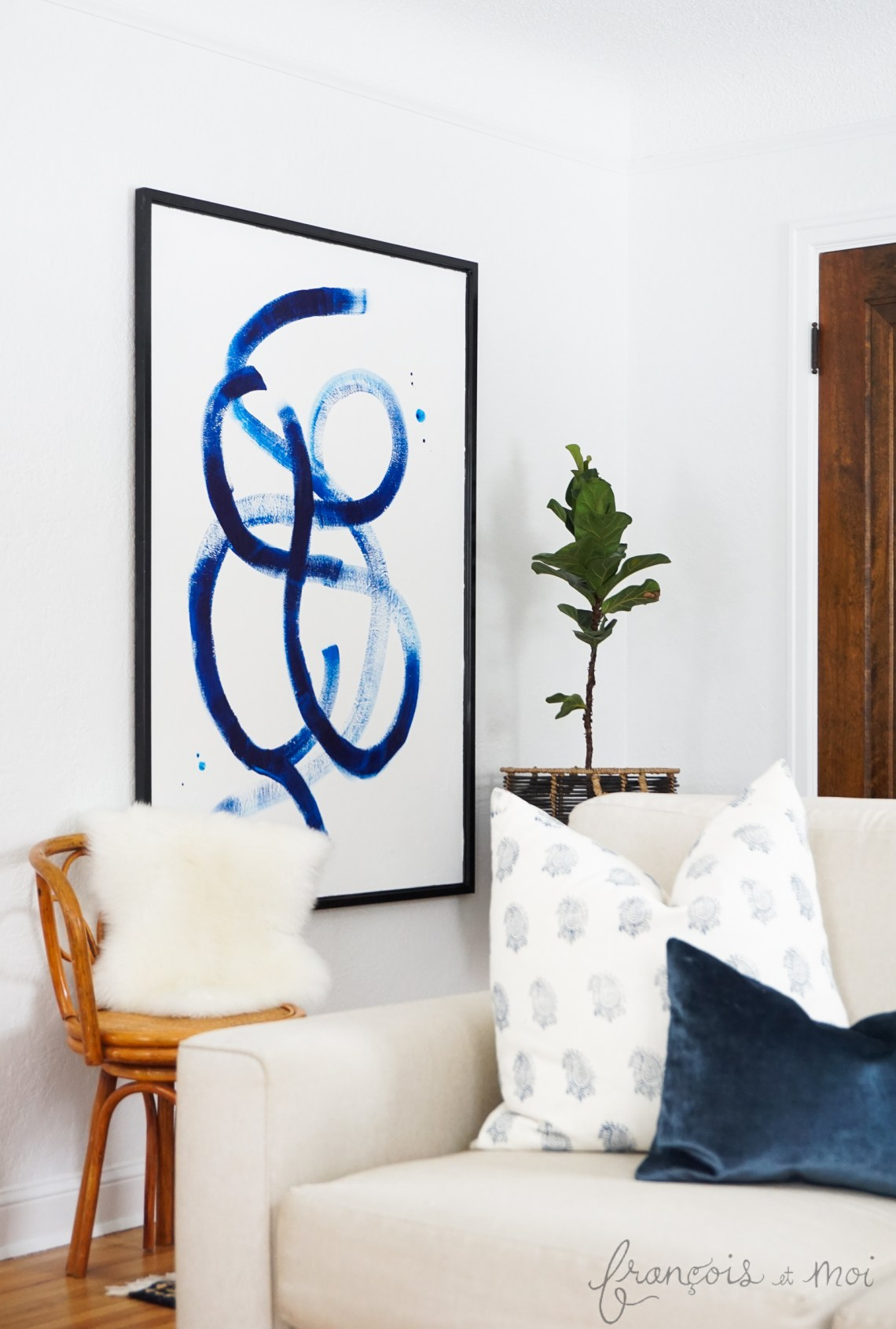 Repurpose An Old Piece: Brushstroke Statement Art | Francois et Moi