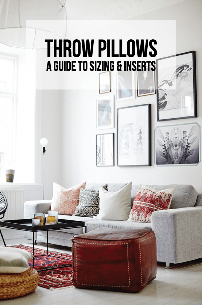 throw pillows a guide to sizing