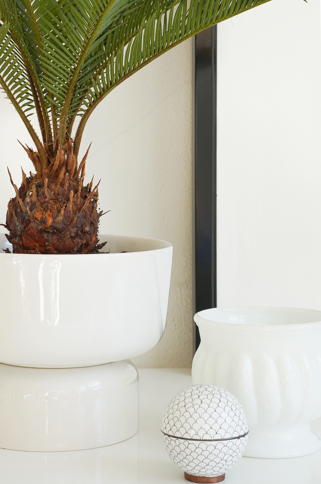 Create this mid mod planter with just two stacked Target bowls. Get all the deets here!