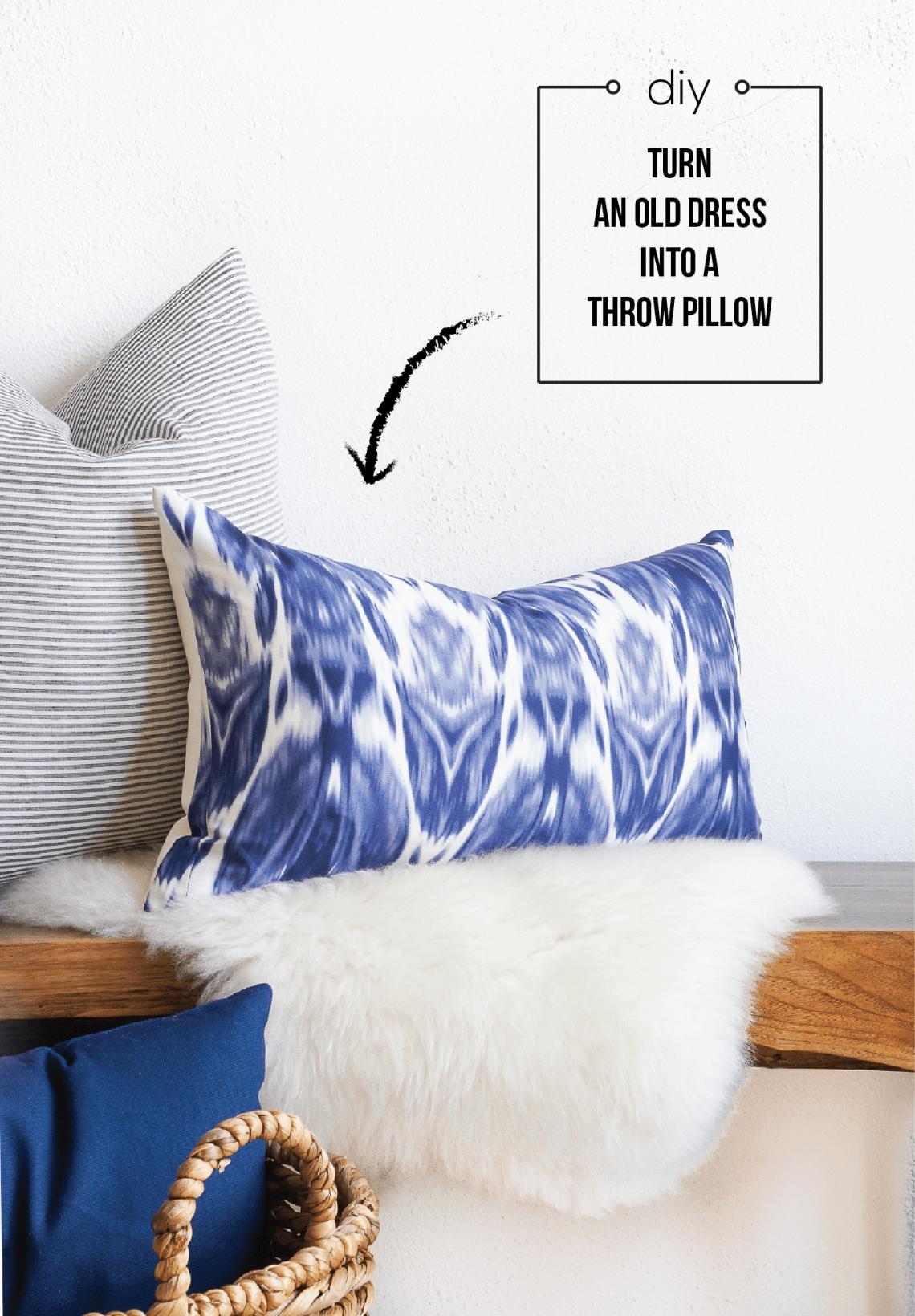 Dress To Throw Pillow Repurposing Fashion Into Home Decor Francois Et Moi