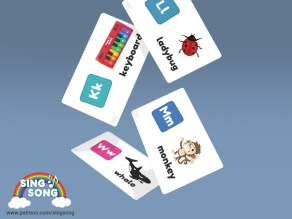 Flashcards from Sing Song, free to download.