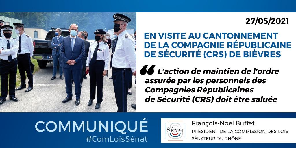 A Bièvres, la Commission des Lois inspecte les méthodes d'intervention des Compagnies Républicaines de Sécurité (CRS) et échange avec ses personnels – 27/05/2021