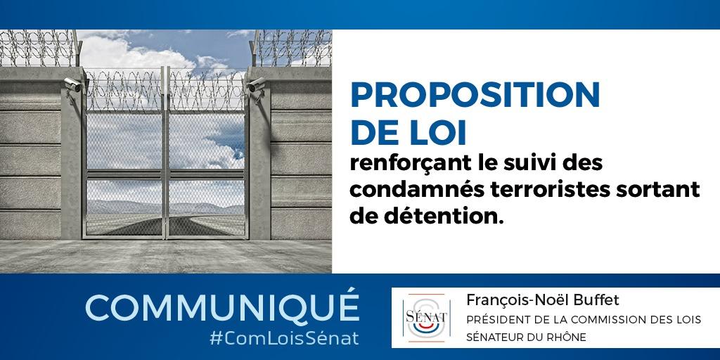 Suivi des condamnés terroristes : la commission des lois du Sénat adopte un dispositif destiné à assurer la constitutionnalité de la mesure de sûreté