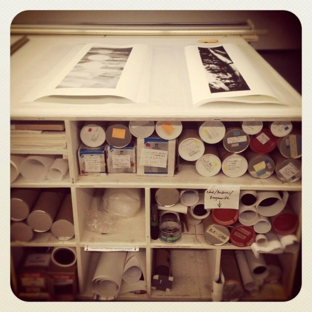 Printing at Hexagram in the Digital Imaging Lab at Concordia University.