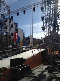 Scène pour la cérémonie d'ouverture à la place Massena_Jour #2