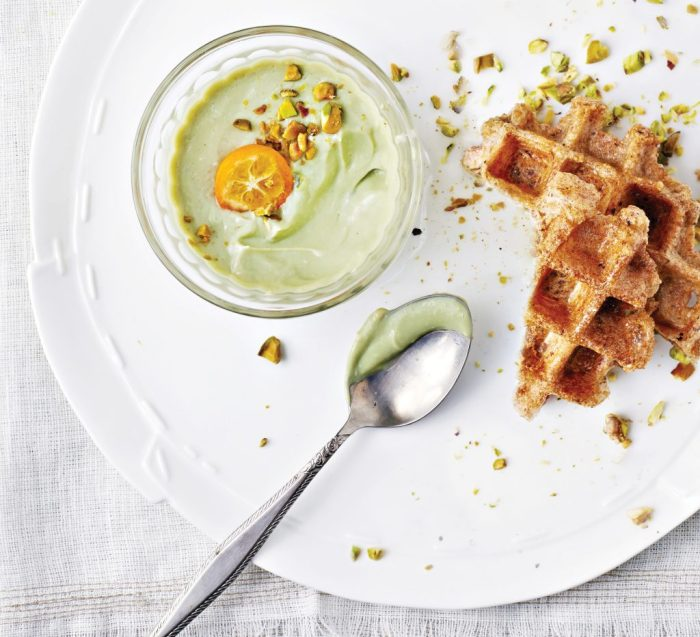 White Chocolate and Matcha Mousse Pudding from Vegan Chocolate by Fran Costigan