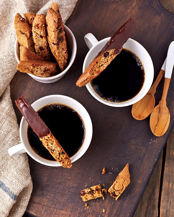 Chocolate Chip Almond Biscotti from Vegan Chocolate by Fran Costigan