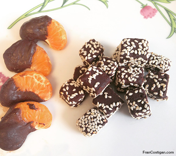 Vegan Chocolate Orange Sesame Truffles