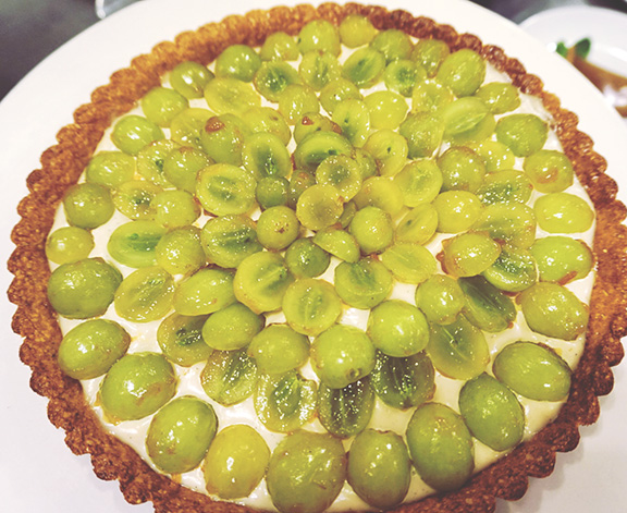 Vanilla Cream and Grape Tart