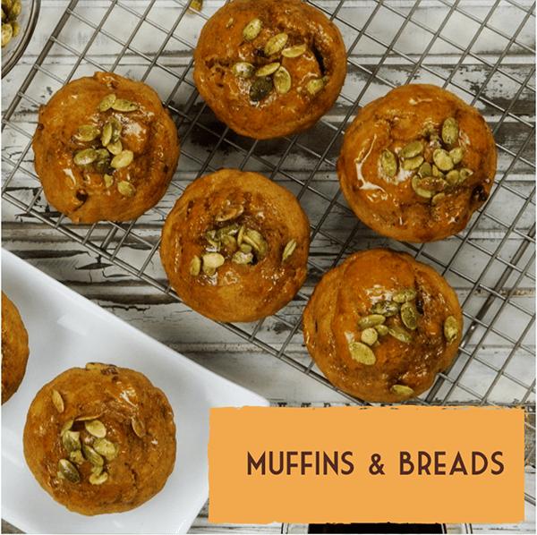 Healthy vegan dairy-free dessert recipes muffins breads