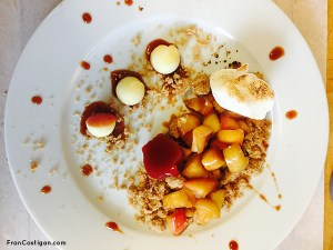 Deconstructed Apple Crumble Plate