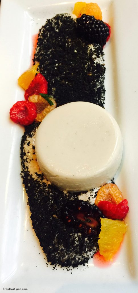 Ambrosia with White Chocolate Panna Cotta