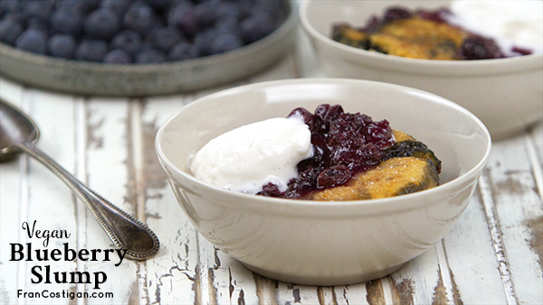 Vegan Blueberry Slump