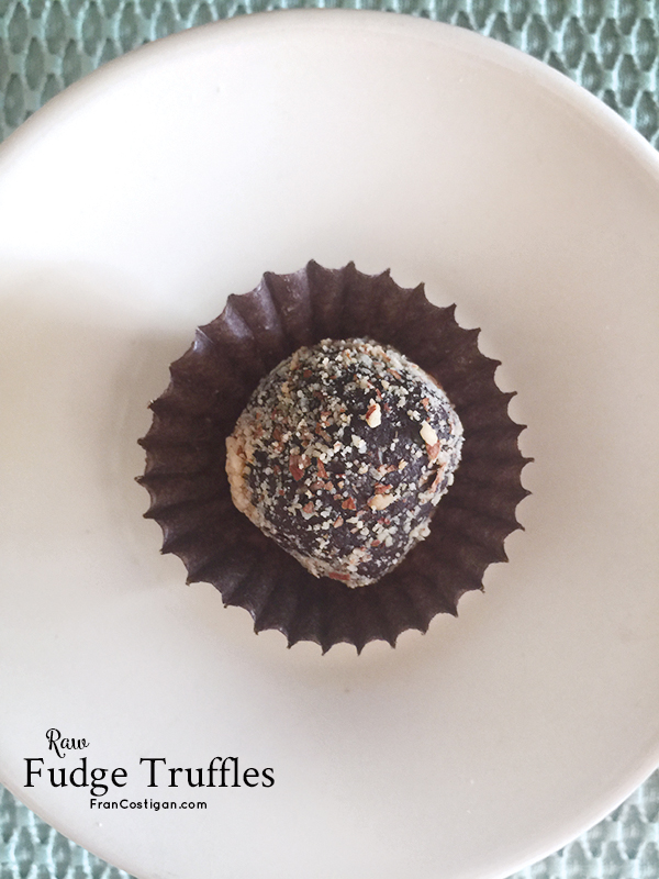 Fran Costigan's Raw Fudge Truffles – vegan, gluten-free, no-oil, low-sweetener
