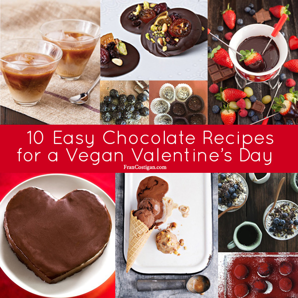 10 Easy Chocolate Recipes for a Vegan Valentine's Day