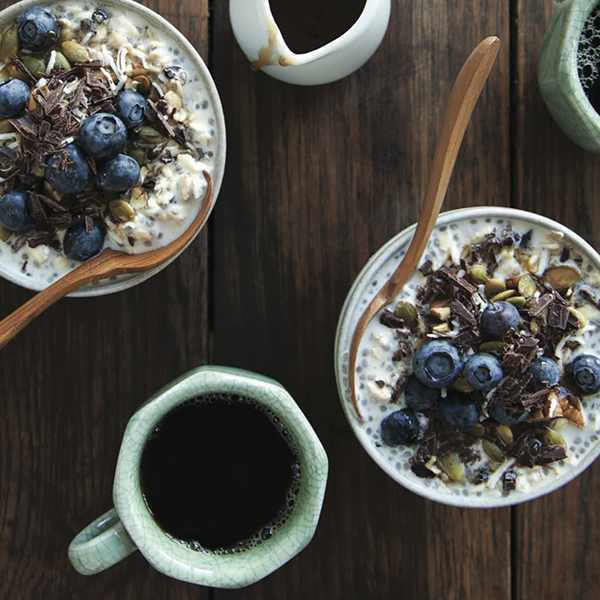 Super-Healthy Nibby Chia Breakfast Sundae