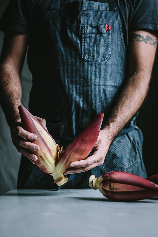 Banana Blossom Prep photo by Eva Kosmas Flores