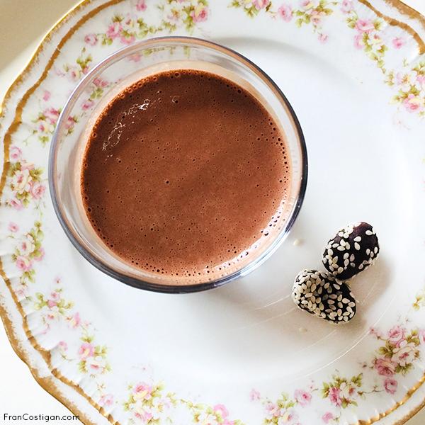 Vegan Mocha Tahini Milkshake from above