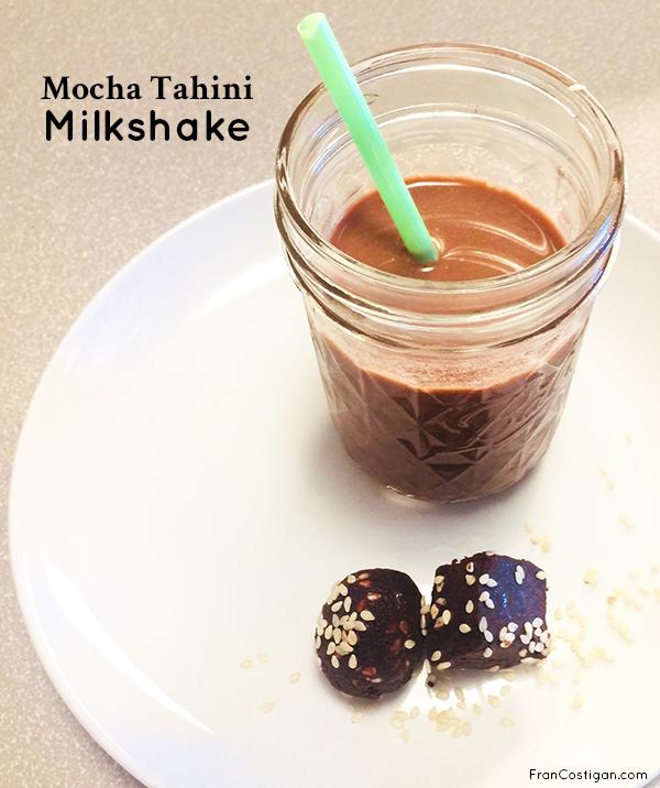 Fran Costigan's Vegan Mocha Tahini Milkshake (vegan, gluten-free, dairy-free)