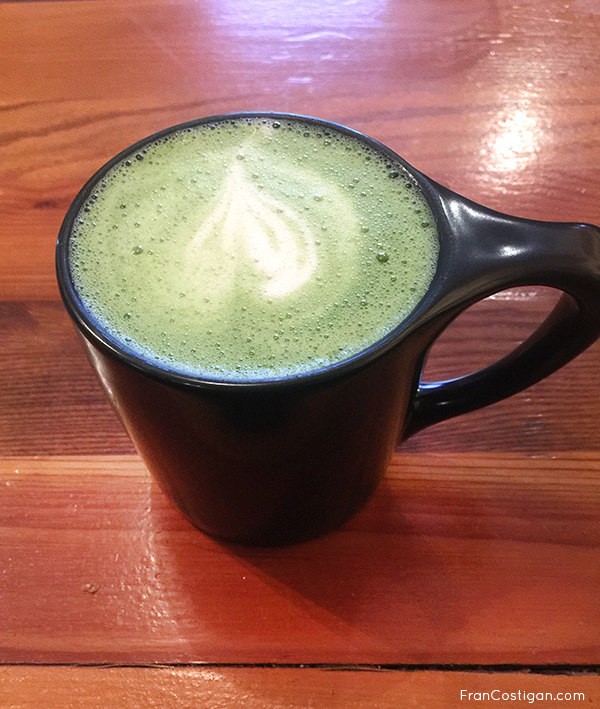 Oatly Matcha Latte with oat milk