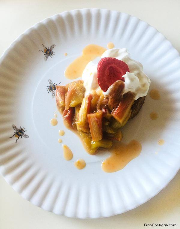 Orange Oven Poached Rhubarb shortcake