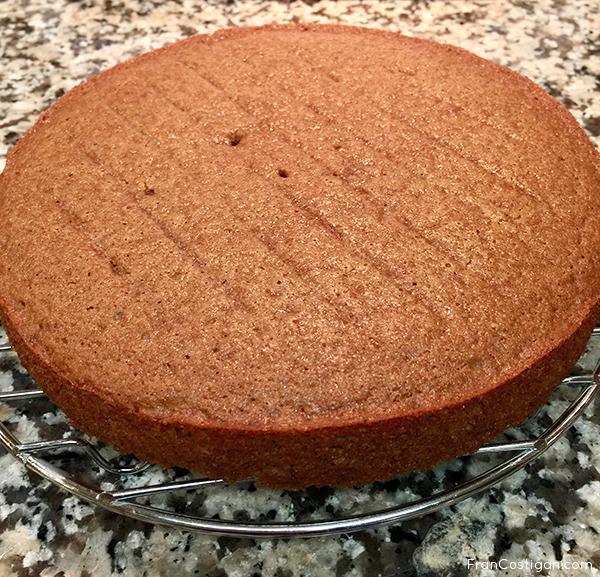 Fran Costigan's vegan Dark Moist Spice Cake cooling