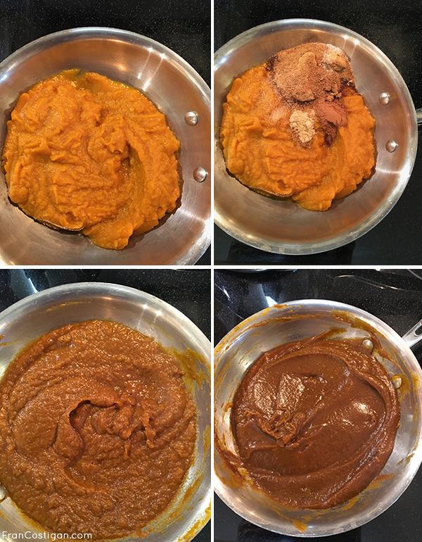 Making pumpkin butter