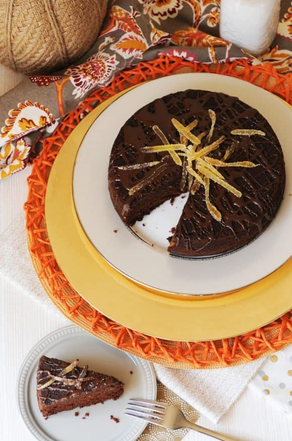 Pumpkin Chocolate Cake with Ginger from Fried Dandelions