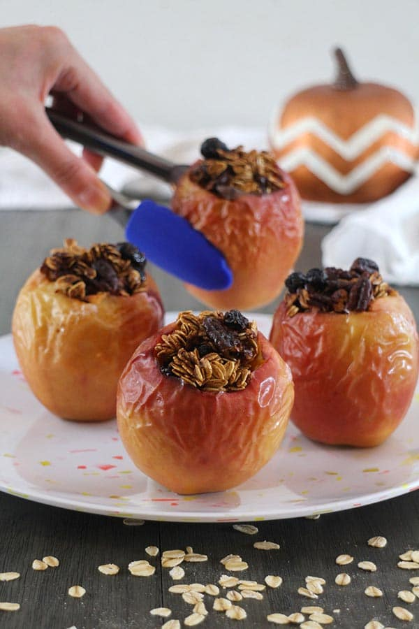 Pumpkin Spice Baked Apples in the Air Fryer from Glue and Glitter