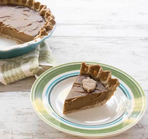 Kathy Hester'sGluten-Free Vegan Pumpkin Pie with a Teff Flour Pecan Crust