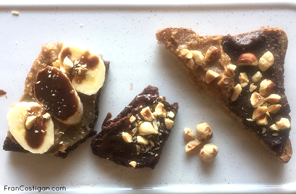 2 Ingredient Vegan Nutella Blondie on toast