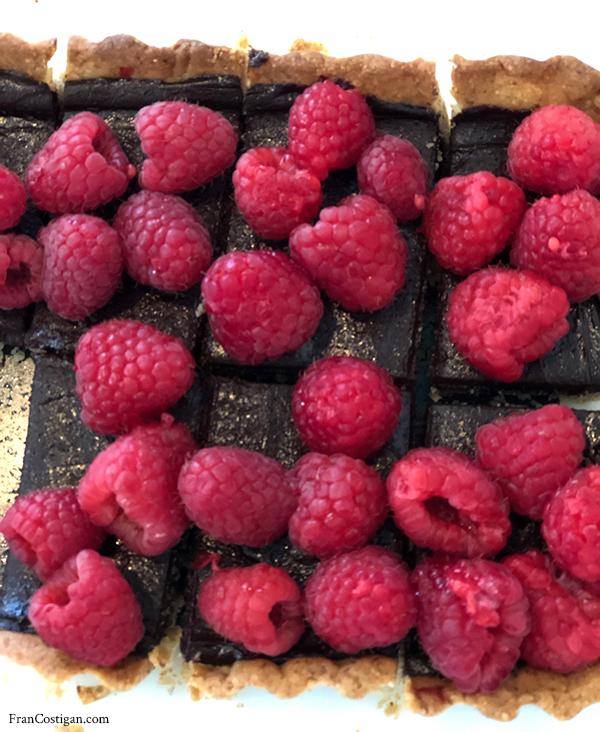 No-Bake Raspberry Tart