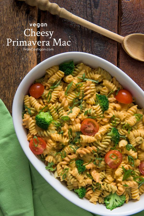 Cheesy Primavera Mac from Vegan Mac and Cheese by Robin Robertson