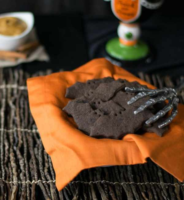 Creepy Bats and Cats Vegan Chocolate Graham Crackers from Kathy Hester