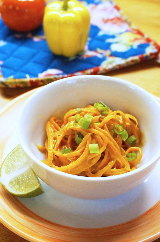 peanut-y carrot noodles