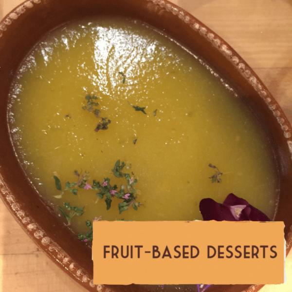 Healthy vegan dairy-free dessert recipes fruit-based