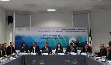 Realiza PGR Tamaulipas la Sexta Reunión de Evaluación Delegacional