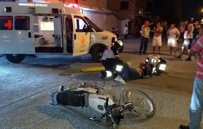 Dejan Grave a Motociclista en Aparatoso Choque