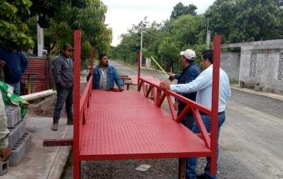 Gobierno Municipal Inicia Construcción de 4 Puentes Peatonales en Xicoténcatl